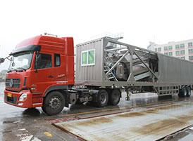 Green Mobile Concrete Mixing Station